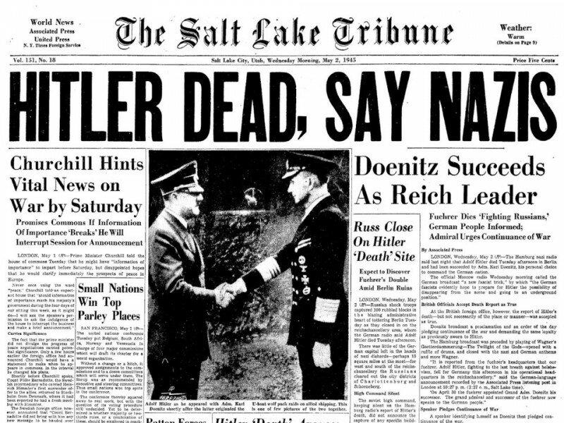 Останнє інтерв'ю Адольфа Гітлера