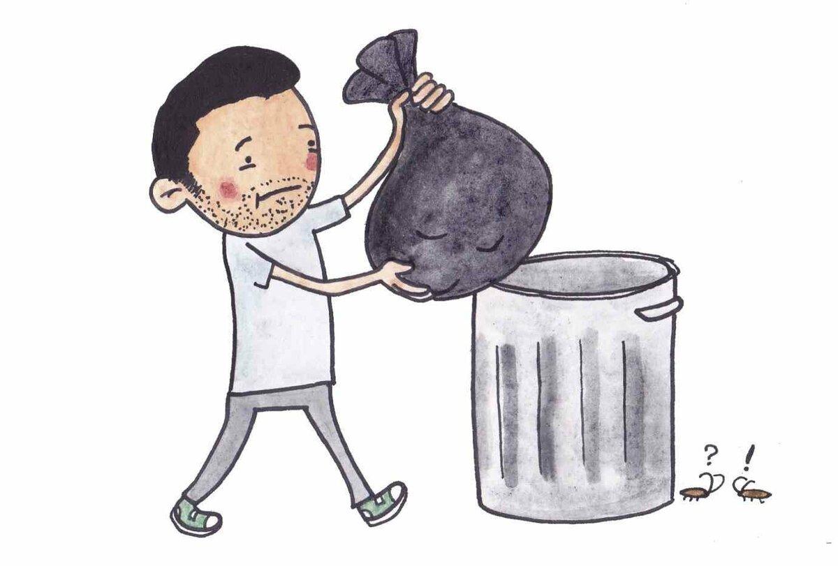 Чому не можна виносити сміття ввечері