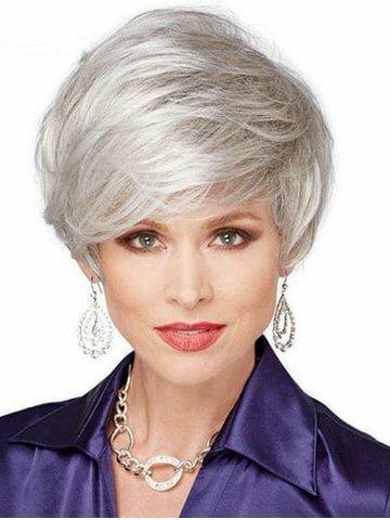 Стильні стрижки для сивого волосся
