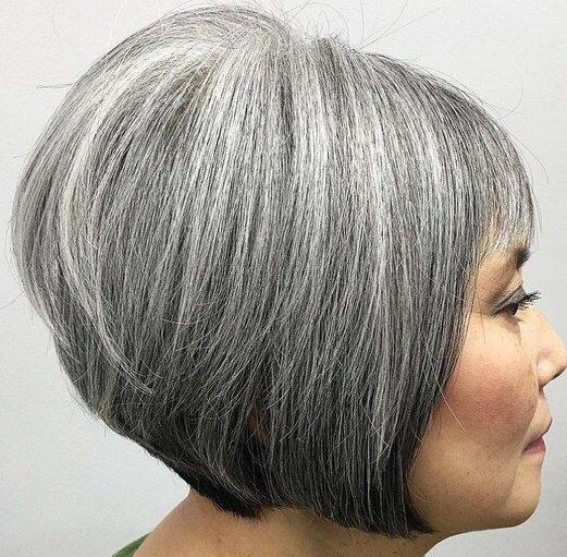 Яке мелірування підходить для сивого волосся