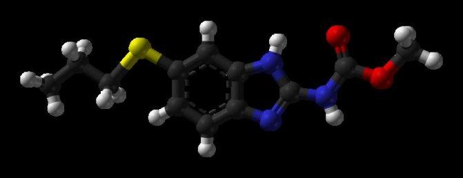 Активний компонент албендазол
