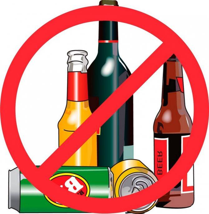 Алкоголь заборонений при прийомі Витапрост Форте