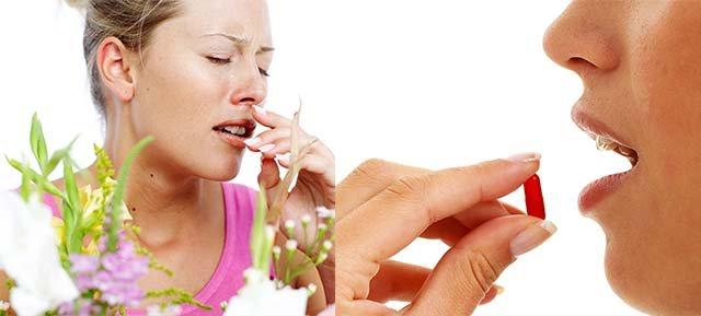 Алергія на квіти і ліки