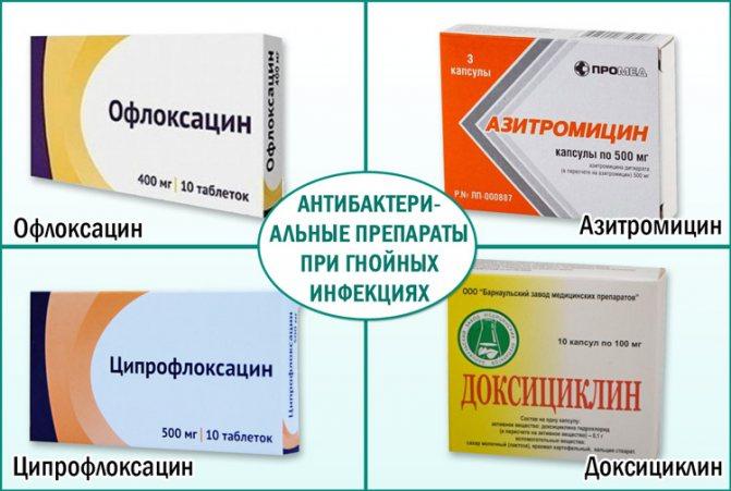 Антібактеріальні ліки при гнійніх інфекціях