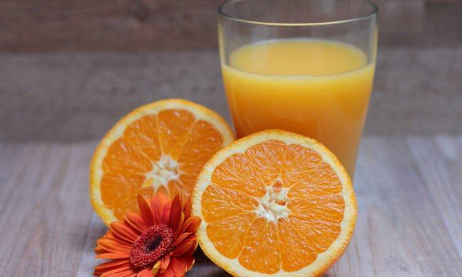 Апельсиновий сік для поповнення запасу вітаміну Д