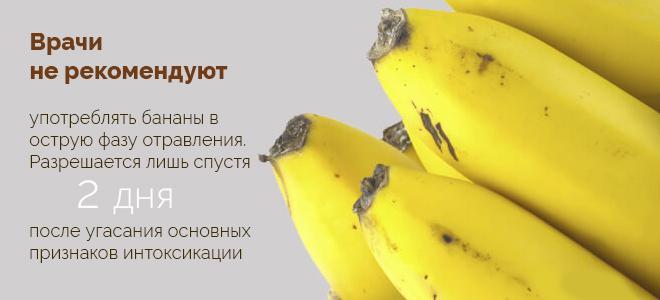 Банани після отруєння