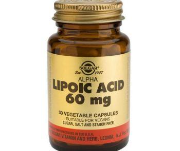 Біологічно активна добавка SOLGAR Альфа-ліпоєва кислота капсули №30