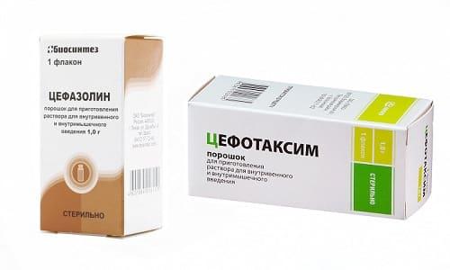 цефотаксим або цефазолін