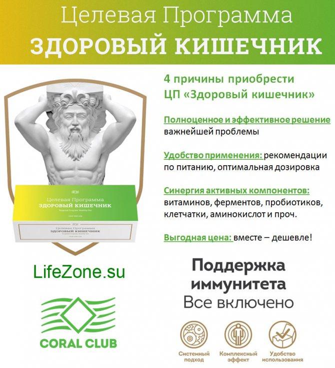 Цільова програма «Здоровий кишечник» від Coral Club
