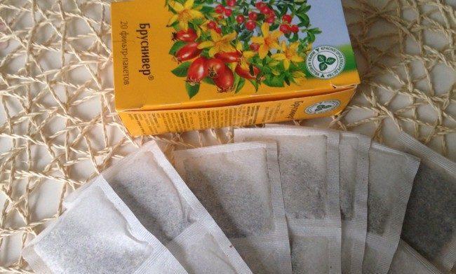 чай бруснівер в пакетиках