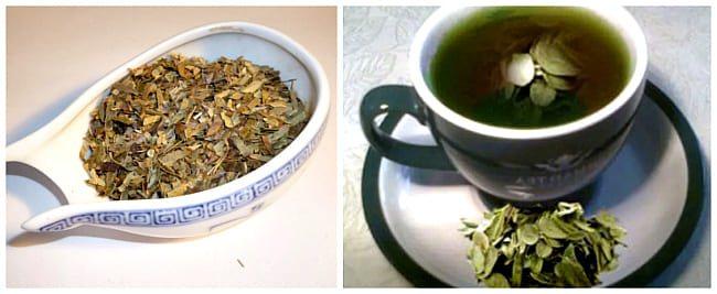 чай з листя брусниці