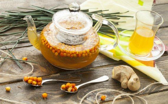 Чай з обліпихою і імбиром