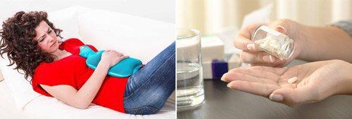дії при загостренні хвороби: холодний компрес і знеболююче