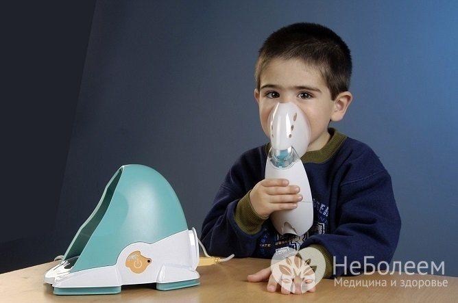 Дітям НЕ слід Проводити інгаляції Гаряча парою, рекомендується використовуват небулайзер