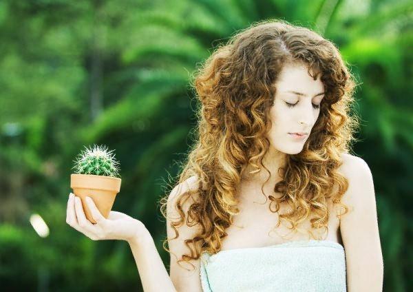 Дівчина и кактус
