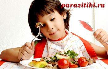 дієта при аскарид