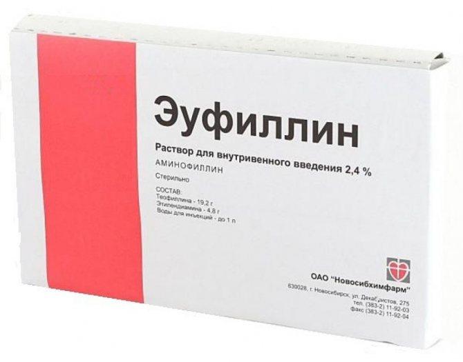 еуфілін інструкція в ампулах