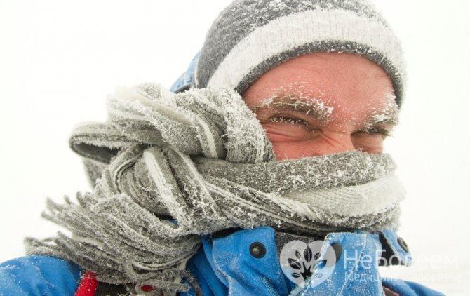 Фактори ризики, что спріяють розвитку обмороження