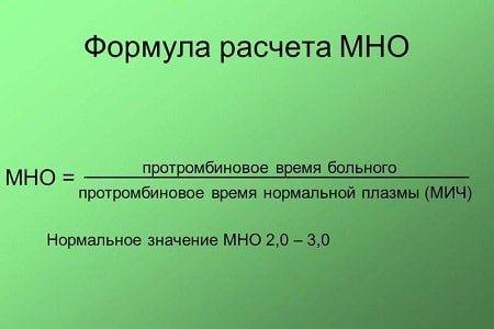 Формула розрахунку МНО