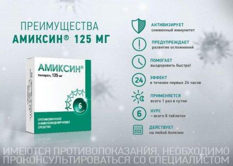 Фото: переваги препарату Аміксин