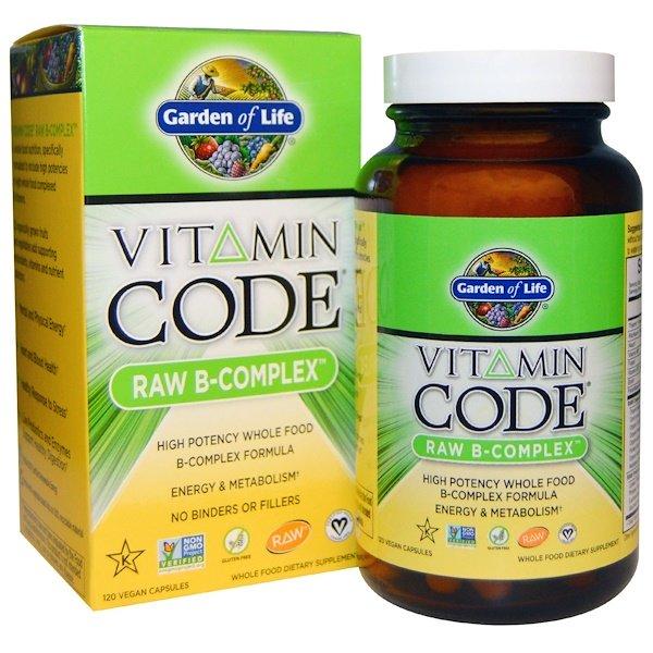 Garden of Life, вітамінний код, сірої B-комплекс, 120 веганськіх капсул
