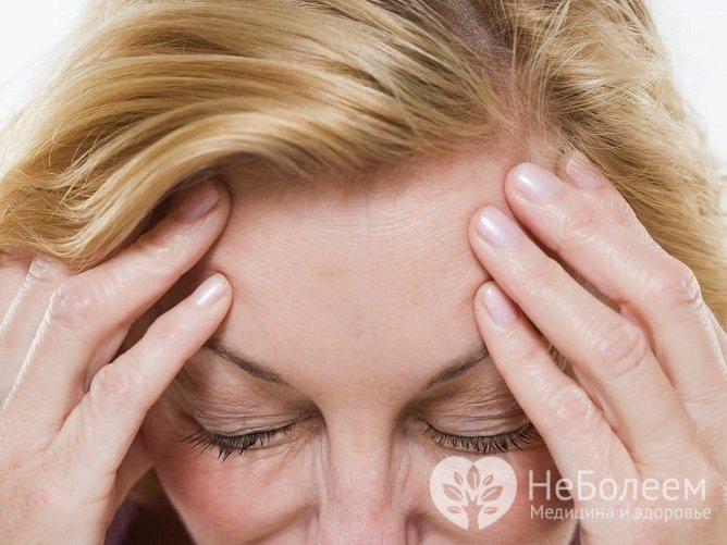 Головний біль - основна ознака менінгіоми