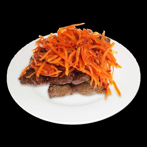 Яловича печінка з морквою