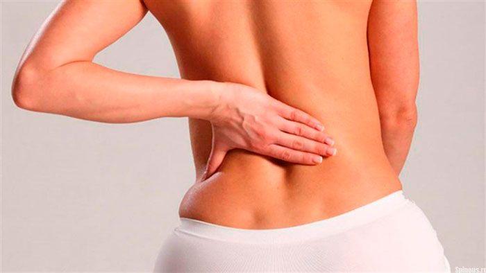 грижа поперекового відділу хребта симптоми