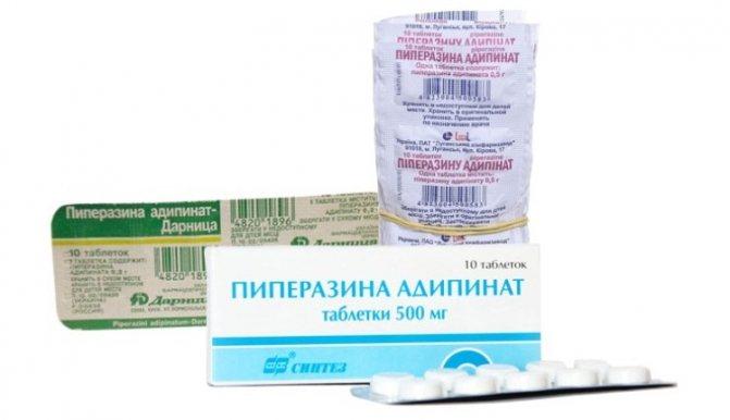 Інструкція по застосуванню піперазину