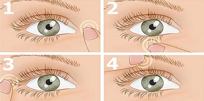 Як делать масаж очі