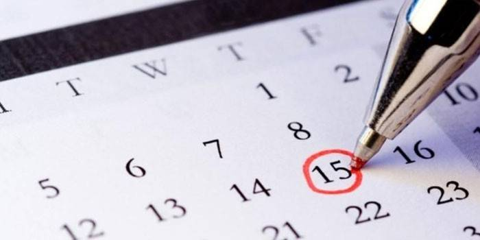 Календар і ручка