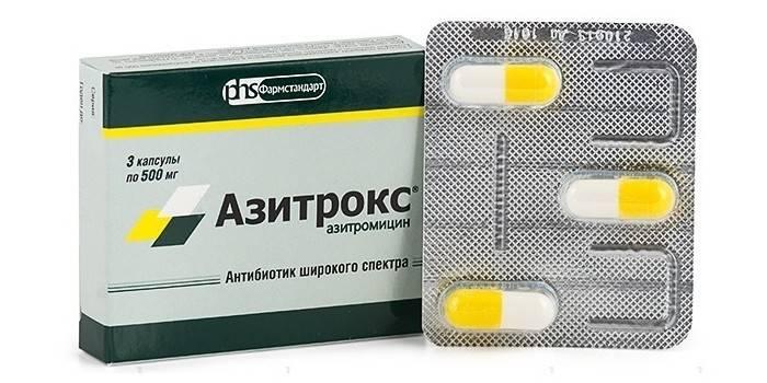 Капсули Азитрокс в упаковці