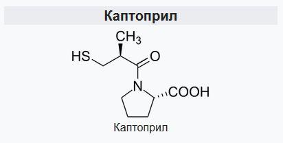 Каптопрріл формула