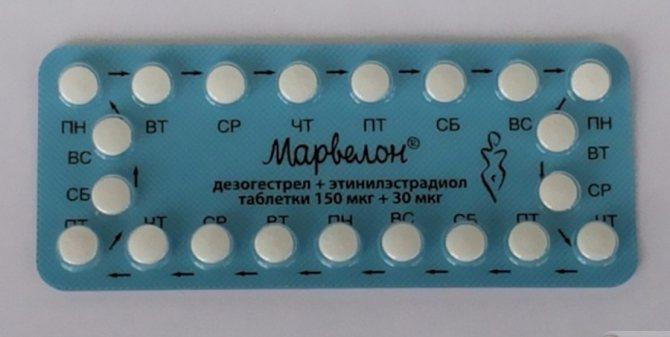 Контрацептиви Organon Марвелон