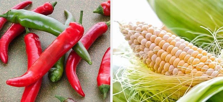 Кукурудза і перець