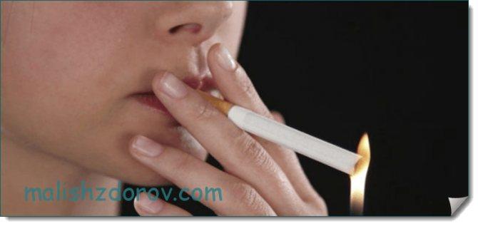 Куріння віклікає ризики СБ