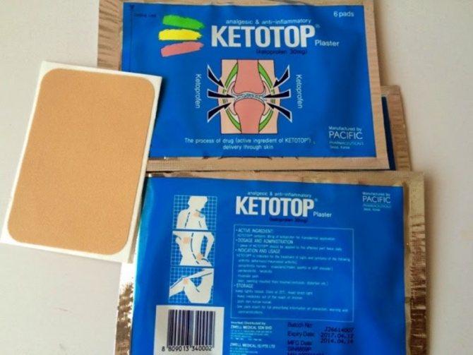 ліки кетотоп