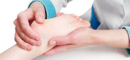 масаж дитячої ніжки