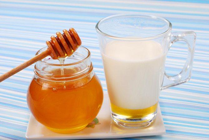 Мед і молоко від виразки шлунка