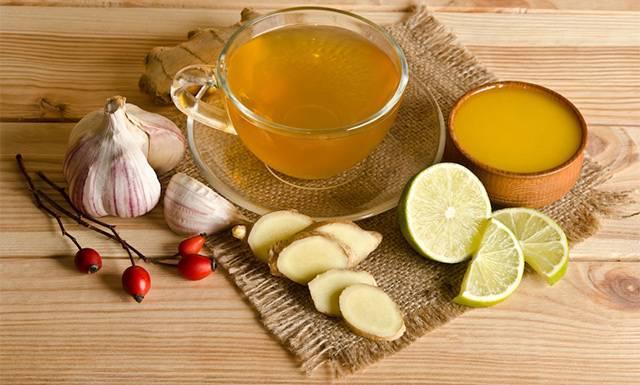 Мед, лимон, часник, імбир