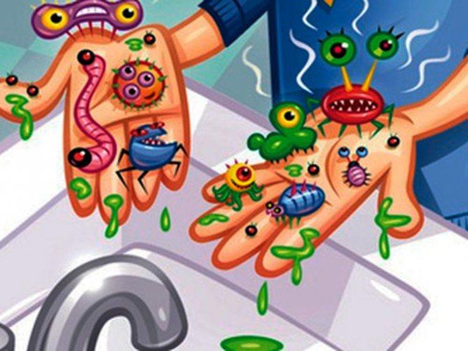мікробі на руках ангіна