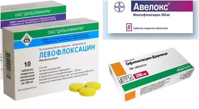Моксифлоксацин, Офлоксацин, Левофлоксацин