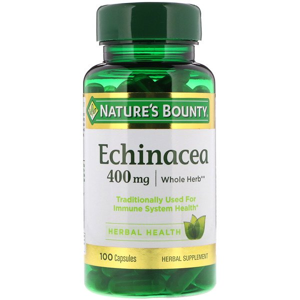 Nature's Bounty, Ехінацея, 400 мг, 100 капсул