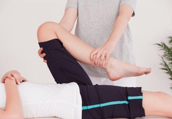 нога зігнута