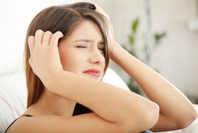 Про що говорити Біль в правому або лівому скроні и лобової части голови?