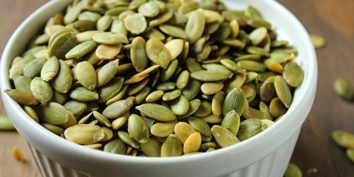 Очищені гарбузове насіння