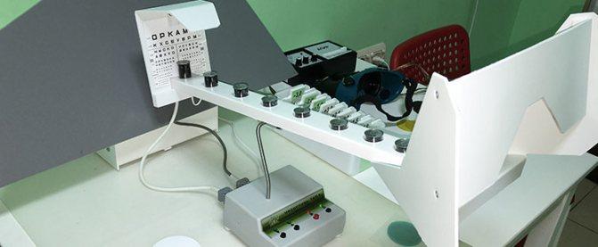 Офтальмологічний апарат «Струмочок»: тренування акомодації