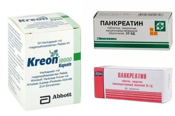 Панкреатин і Креон