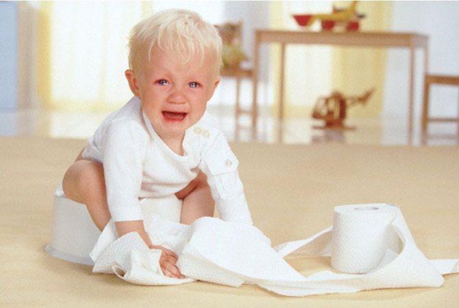 Плаче малюк на горщик
