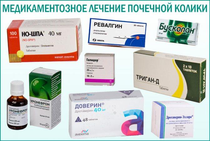 Ниркова колька: медикаментозне лікування